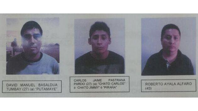 Capturaron a banda raqueteros que asesinó a tres personas, entre ellas un policía. (Difusión)