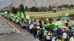 Arequipa: Protesta contra Tía María se trasladó a la Panamericana Sur [Fotos y video] - Noticias de paro minero en arequipa