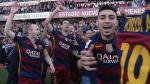 Barcelona conquistó su título número 24 en la Liga española y así celebraron sus jugadores [Fotos] - Noticias de claudio munoz