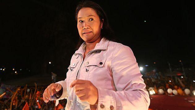 Keiko Fujimori durante su mitin en Ate. (Perú21/Luis Centurión)