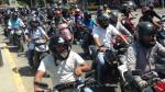 Pueblo Libre: Motociclistas con cascos que tapen sus rostros serán multados con S/316. (USI/Referencial)