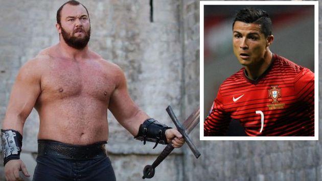 'La Montaña' de 'Game of Thrones' amenazó a Cristiano Ronaldo. (El País/AP)