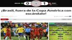 Perú eliminó a Brasil de la Copa América Centenario y así lo informó la prensa internacional [Fotos] - Noticias de portal deportivo