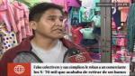 Cuatro sujetos en falso colectivo robaron S/70 mil a comerciante textil en el Centro de Lima. (América TV)