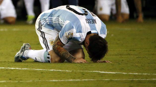 Lionel Messi anunció su retiro de la selección argentina tras derrota ante Chile. (EFE)