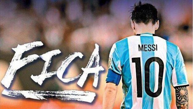 Lance se burló de la situación del Lionel Messi.