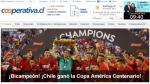 Chile campeón: Así celebró la prensa sureña el título de la Copa América Centenario [Fotos] - Noticias de terra chile