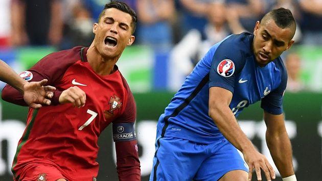 Dimitri Payet se disculpó con Cristiano Ronaldo por provocar su lesión. (AFP)