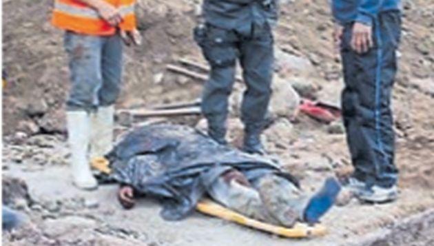 Penoso fue el rescate de los cadáveres de los trabajadores. (USI)