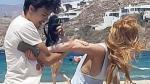 Lindsay Lohan sufrió agresión por parte de su pareja en playa de Grecia [Video] - Noticias de lindsay lohan