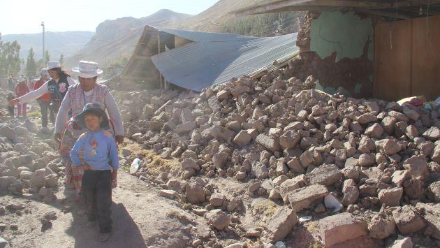 Gobierno declaró en emergencia 7 distritos de Arequipa tras sismo. (USI)