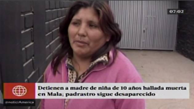 Arrestan a la madre de niña de 10 años que apareció muerta en descampado de Mala. (América)