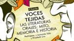 Conversatorio 'Las literaturas orales: mito, memoria e historia' empieza este viernes 19 - Noticias de david tello
