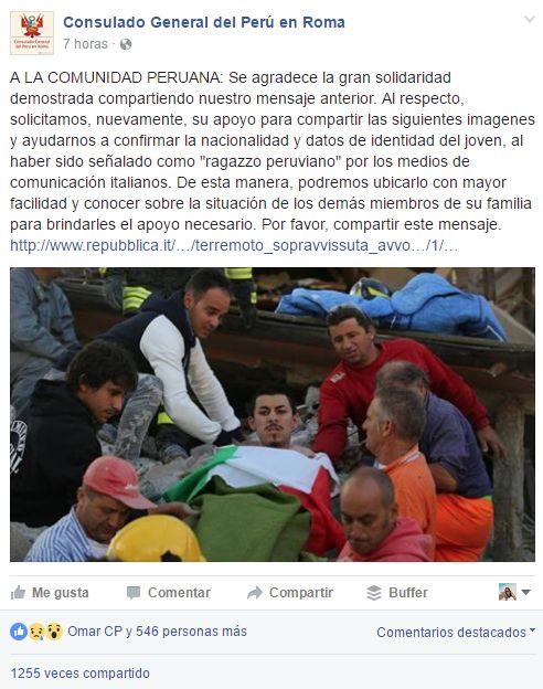 Terremoto en Italia