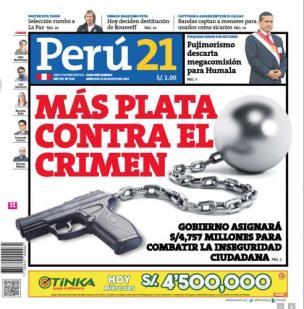 Más plata contra el crimen