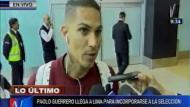 Paolo Guerrero se mostró optimista de cara a los partidos de las Eliminatorias. (Canal N)