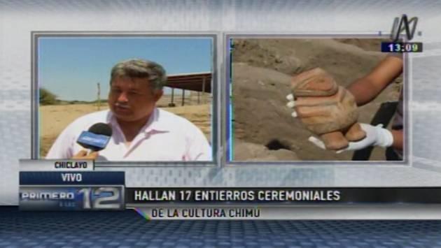 La investigación se realiza con el apoyo de los estudiantes de arqueología de décimo ciclo. (Canal N)