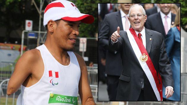 Juegos Paralímpicos: PPK felicitó a Efraín Sotacuro por lograr el cuarto puesto en maratón. (@PeruParalimpico)