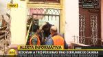 Rímac: Al menos 3 personas quedaron atrapadas por derrumbe de muro [Video] - Noticias de marcos delgado