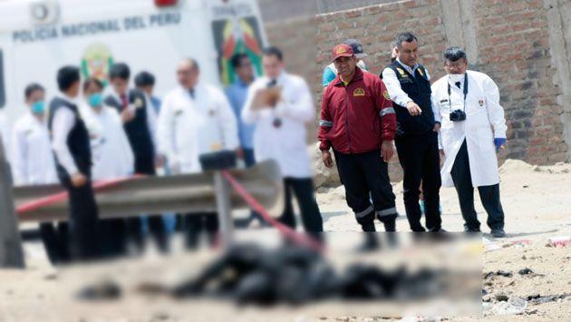 Cuerpos calcinados en un descampado en Jicamarca corresponden a madre e hija