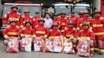 Bomberos de La Victoria recibieron 26 trajes nuevos gracias a donación [Video] - Noticias de estacion gamarra