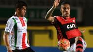 Flamengo fue eliminado de la Copa Sudamerica tras caer por 2-1 ante Palestino. (EFE)