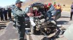 Puno: Cuatro miembros de una familia murieron en choque de auto con bus interprovincial - Noticias de accidente en la vía puno - cusco