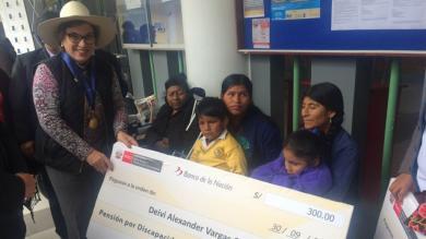 Niños de Cajamarca con discapacidad severa recibieron pensión [Fotos]
