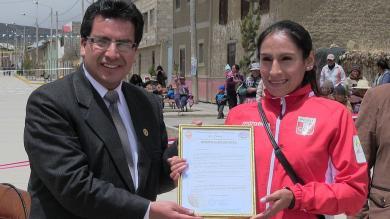 Gladys Tejeda: Alameda y calle principal de Junín lleva el nombre de la fondista peruana