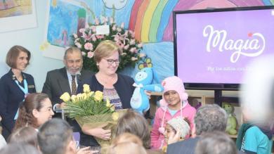 Nancy Lange estuvo presente en la inauguración de Casa Magia para niños con cáncer [Fotos]