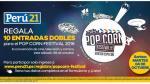 Estos son los ganadores de las entradas dobles para asistir al Pop Corn Festival este 8 de octubre - Noticias de wilfredo gonzales