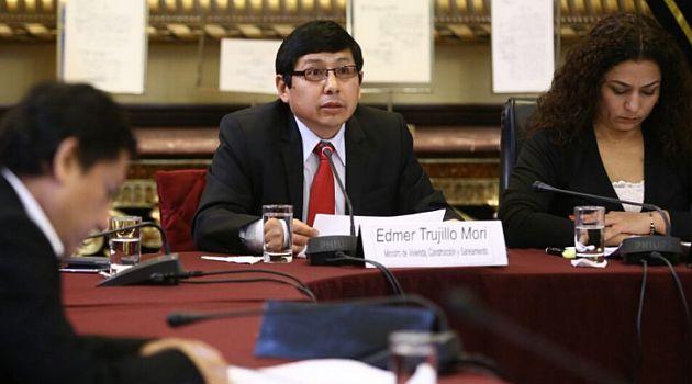 Edmer Trujillo Mori se presentó ante Comisión de Presupuesto del Congreso. (@congresoperu en Twitter)