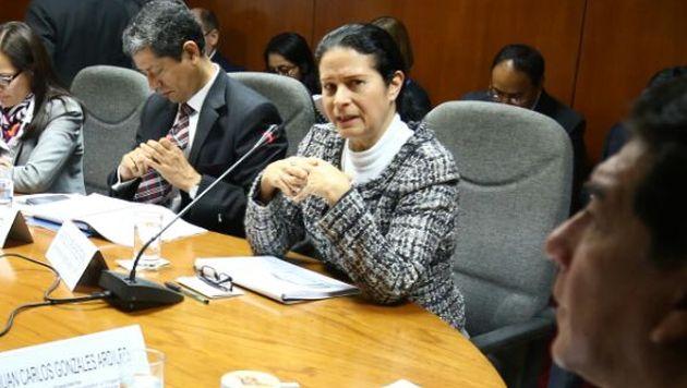 Jefa de la Superintendencia de Banca, Seguros y AFP se presentó ante la Comisión de Defensa del Consumidor. (Facebook Juan Carlos Gonzales)