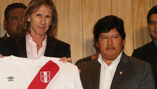 Edwin Oviedo respaldó continuidad de Ricardo Gareca en la selección peruana. (USI)