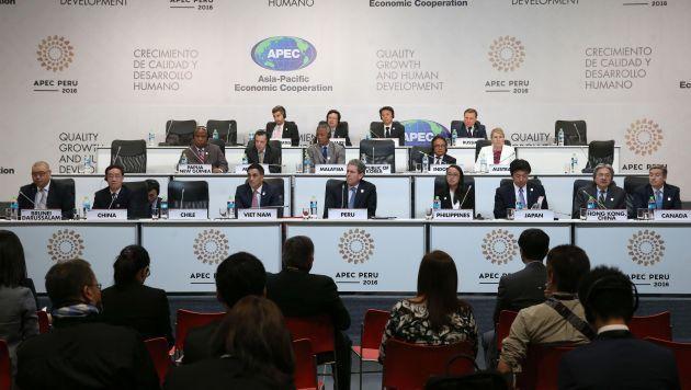 Cita clave. Ministros participaron de la reunión en el Centro de Convenciones de Lima. (EFE)