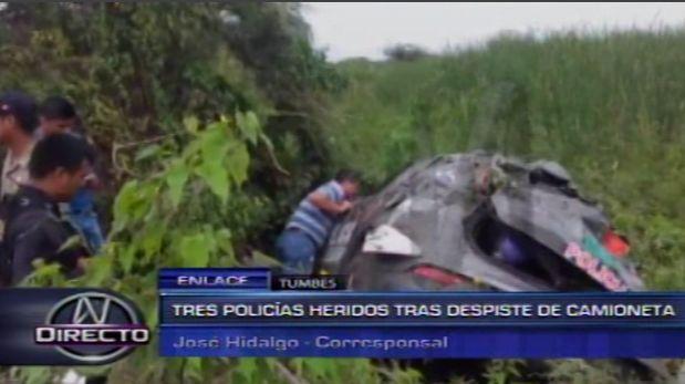Tumbes: Tres policías heridos mientras realizaban persecución  [Video]