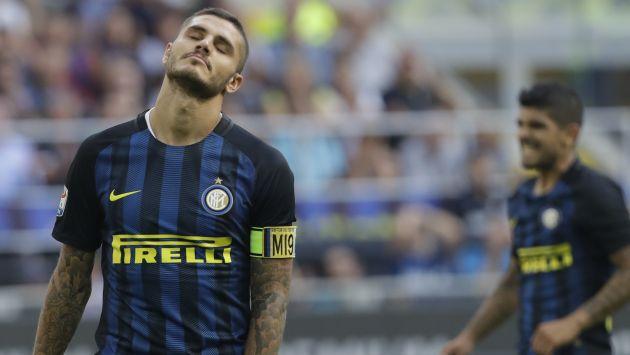 """""""En el futuro voy a tratar de ser más cuidadoso, algo que mi papel en el equipo requiere"""", dijo Mauro Icardi. (AP)"""