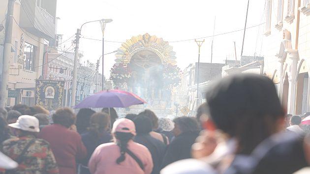 Este martes sale el Señor de los Milagros en recorrido procesional por las calles de Arequipa. (Miguel Idme/Perú21)