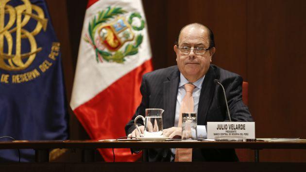 Julio Velarde remarcó nuevamente que el país liderará el crecimiento en la región. (USI)