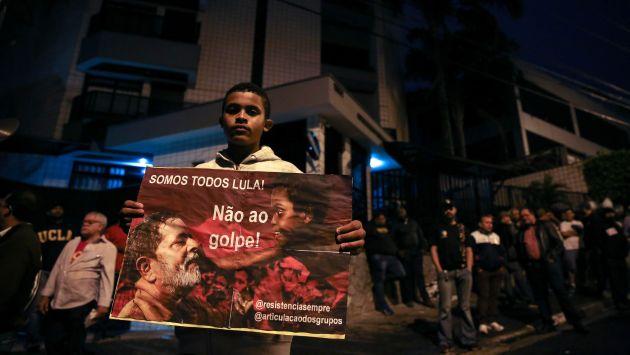 Manifestaron su respaldo a Lula da Silva. (EFE)