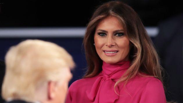"""""""Le dije a mi marido que su lenguaje no es aceptable"""", aseguró Melania Trump. (AFP)"""