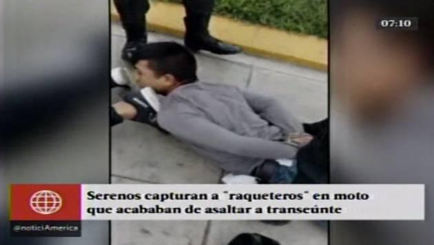 Policía capturó a balazos a banda de raqueteros tras asalto a minimarket en Villa María del Triunfo. (Captura de video)