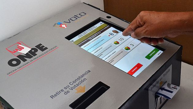 ONPE implementará voto electrónico en 3 distritos para elecciones municipales de 2017. (Andina)