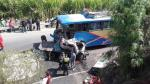 Cañete: 2 muertos y 12 heridos dejó choque entre ómnibus y camión [Video] - Noticias de violador