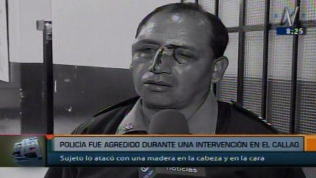 Dos nuevos casos de agresión a policías se registraron en Villa El Salvador y el Callao. (Captura de video)