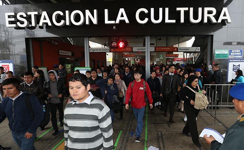Estación La Cultura del Metro de Lima estará cerrada por el foro APEC. (Difusión)