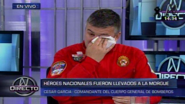 César García, comandante general de los Bomberos. (Captura)