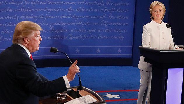 Hillary Clinton y Donald Trump sostuvieron su último debate presidencial en Estados Unidos. (AFP)