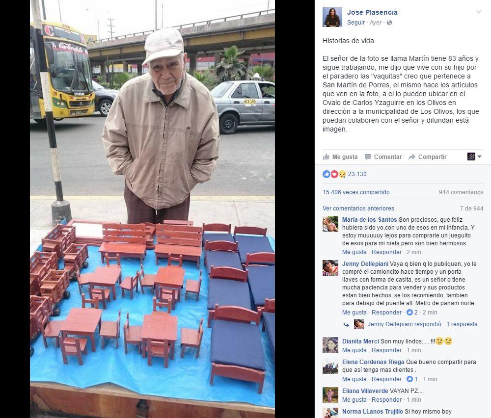 Que De Al FacebookConoce Vende Anciano Fabrica Juguetes Y Madera 4jLq35AR