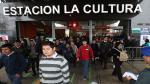 Estación La Cultura del Metro de Lima estará cerrada por el foro APEC - Noticias de cultura lima
